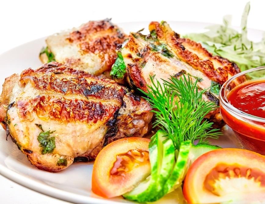 Куриные бедра на гриле на мангале рецепт